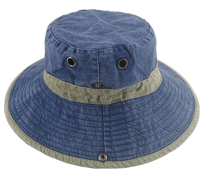 Ledamon Men s Sun Hat Fisherman Hat Outdoor UV Protection Fishing Bucket Hat  (Blue) 1ba03fb6e261