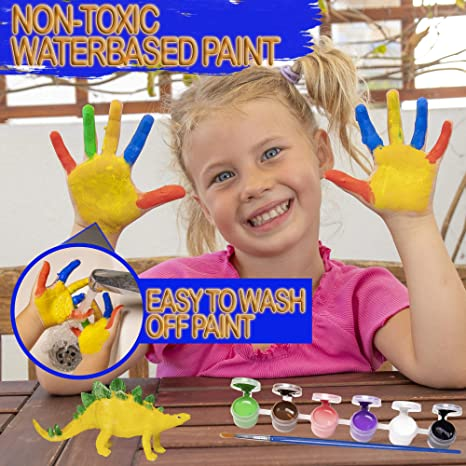 Flashbluer DIY Dinosaur Craft Art Painting Set /& Activity Kit