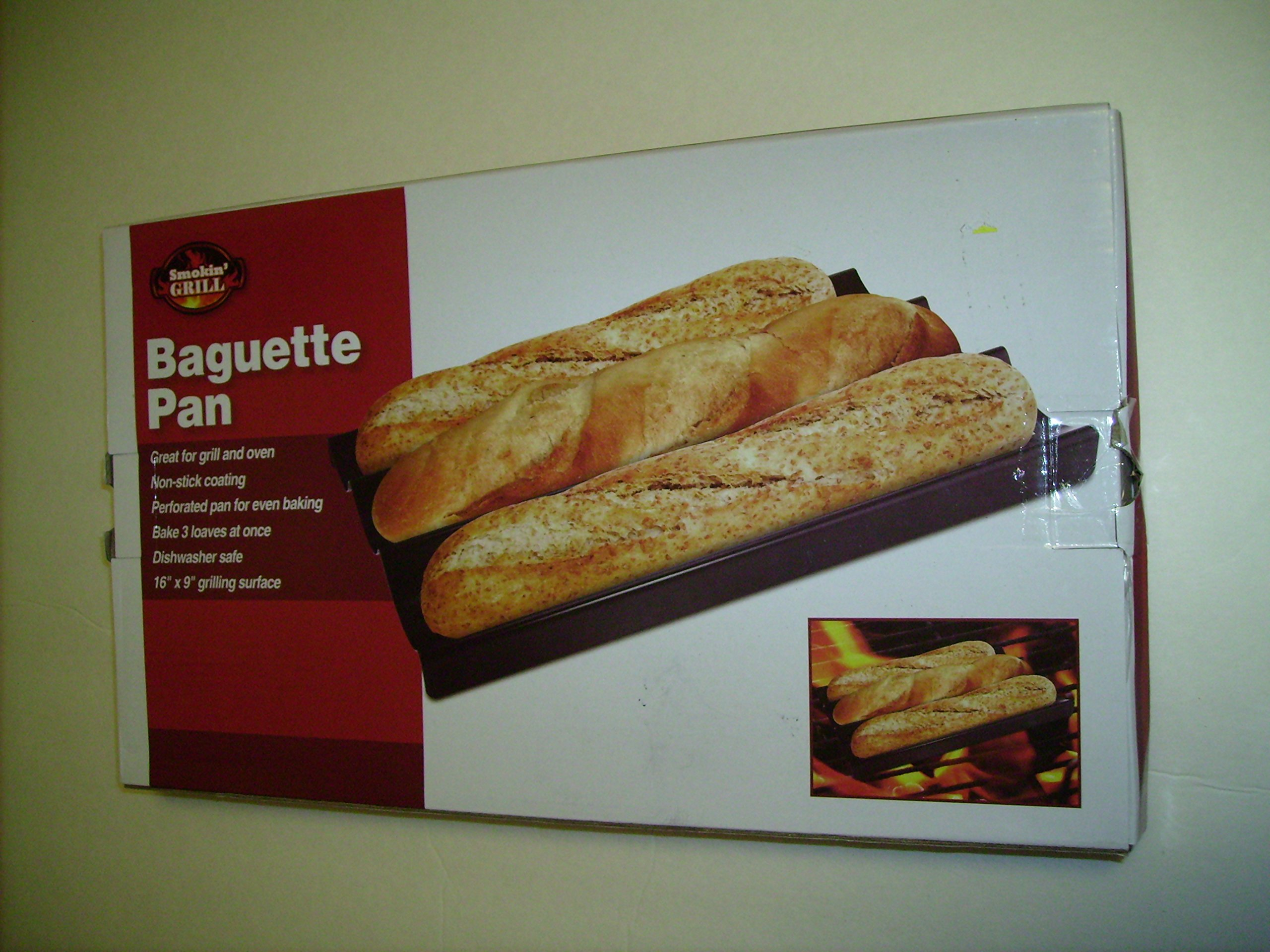 Smokin Grill 3-LOAF BAGUETTE PAN -NON-STICK For Every Day Usage