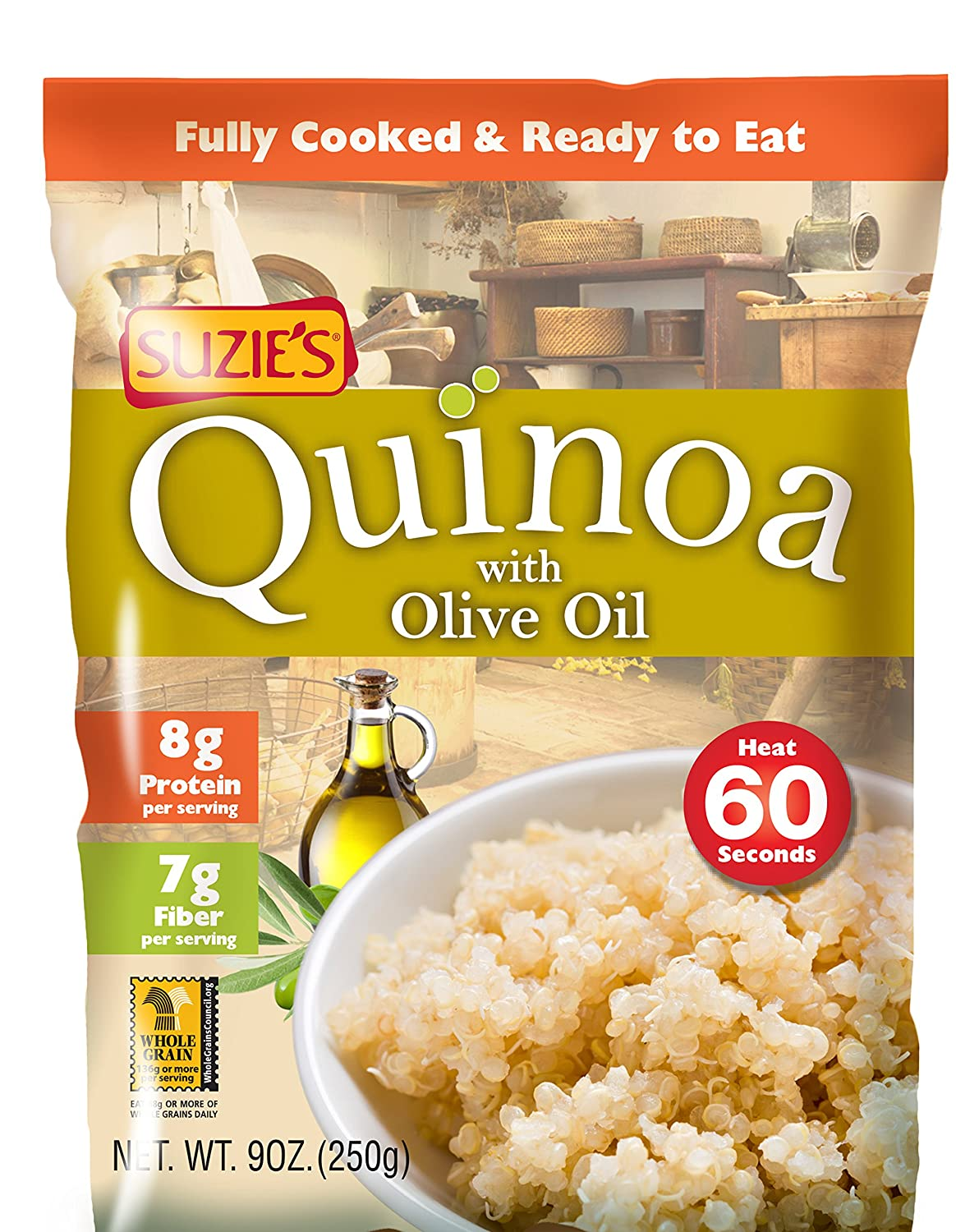 amazon com suzies quinoa pouch organic 9 oz grocery gourmet food