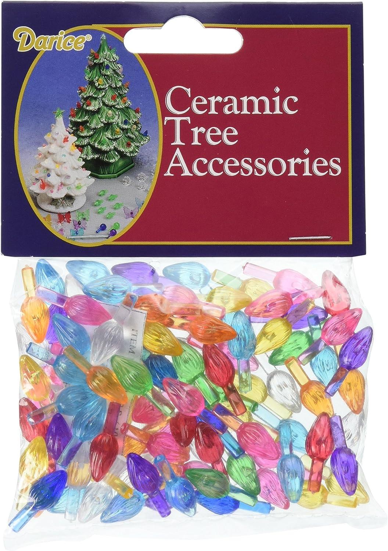 Amazon Com Darice Ceramic Christmas Tree Accessories Small Twist Pin Multi Color 0 5 Inch Toys Games
