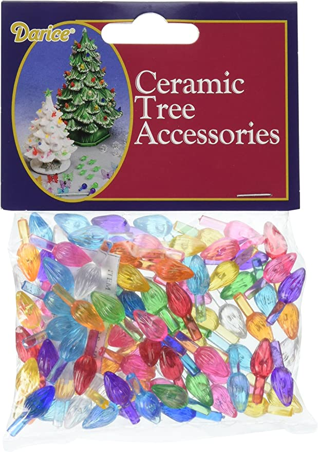 Ceramic Christmas Tree Replacement Bulbs Twist Flame Lights Vintage Lot of 50