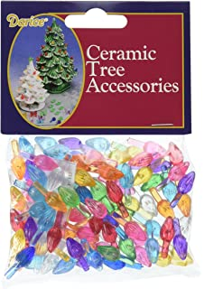 darice p0662 ceramic christmas tree bulb 5 100pkg small flame