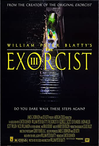 THE EXORCIST III/THE EXORCIST 3 original 1990 27x41 ROLLED one ...