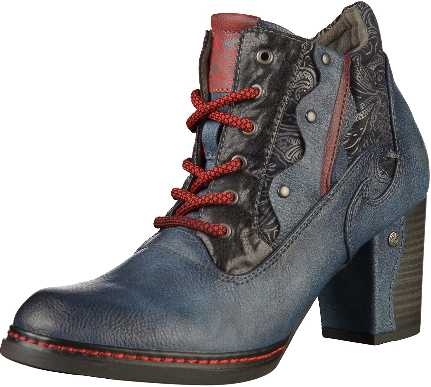 Mustang 19482 B075RYX3FR Stiefelette, Mustang Botines Femme Bleu ca02c1a - automaticcouplings.space
