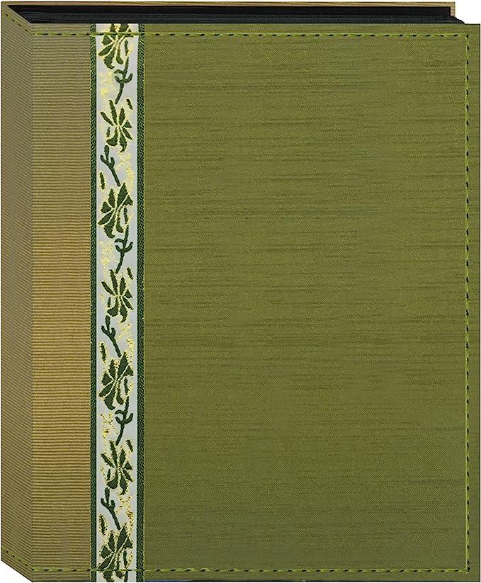 Fabric Ribbon Cover Photo Album 208 Pockets Hold 4x6 Photos Purple
