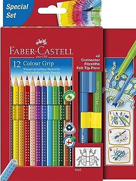 Faber-Castell - Estuche de cartón con 12 lápices de color ...
