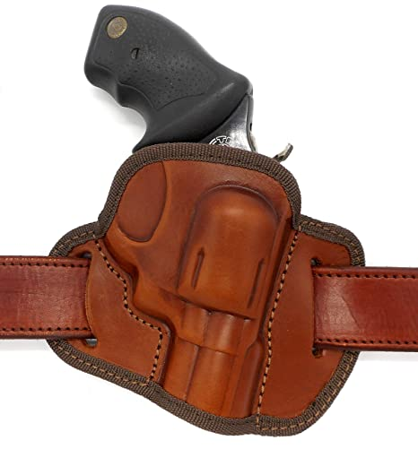 HOLSTERMART USA CEBECI ARMS Brown Leather Open Top OWB Right Hand Belt  Holster for Charter ARMS Pathfinder, Undercover, Chic Lady, UNDERCOVERETTE,  MAG