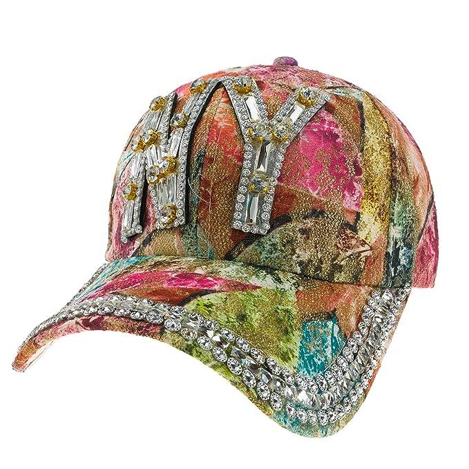 Romens Ltd Mujer Gorros para el sol Sport Gorras De Béisbol Multicolor Crystals Sombreros y Gorras Cap Hat (NY): Amazon.es: Ropa y accesorios