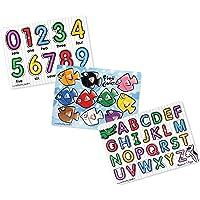 3-Set Melissa & Doug Classic Wooden Peg Puzzles