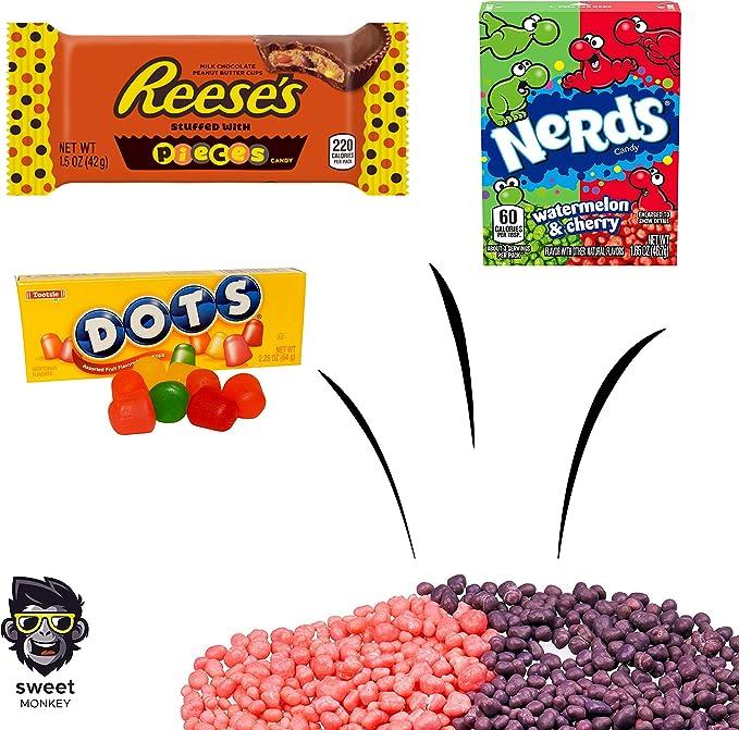 The Americano One | Bolsa de regalo Americano Candy USA | Bolsa De Caramelos Y Dulces Americanos | Candy Hamper Sweets & Chocolate Selection Paquete de cajas | fink gifts: Amazon.es: Electrónica