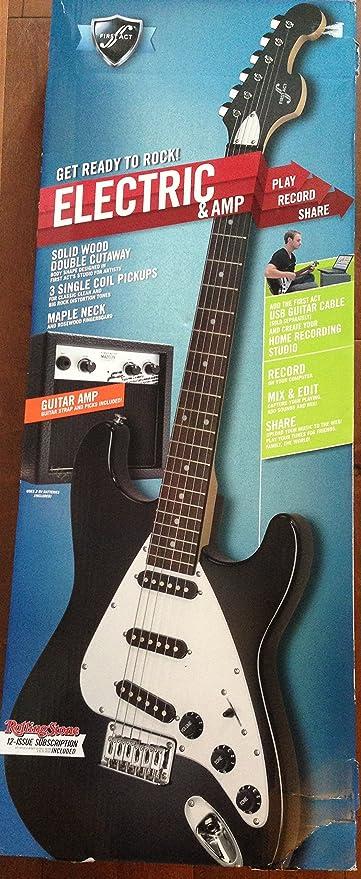 Primera Ley me1973 doble Cutaway Guitarra eléctrica y amplificador, color negro