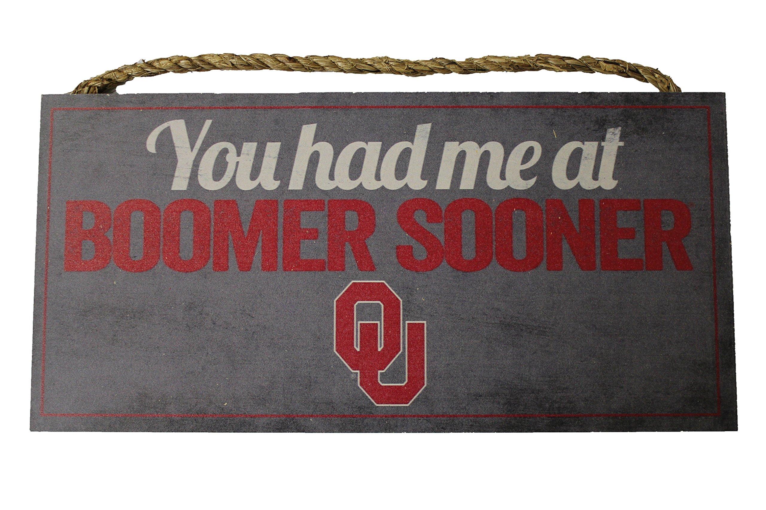 NCAA Oklahoma Sooners 12'' x 6'' You Had Me At Boomer Sooner! Wood Sign