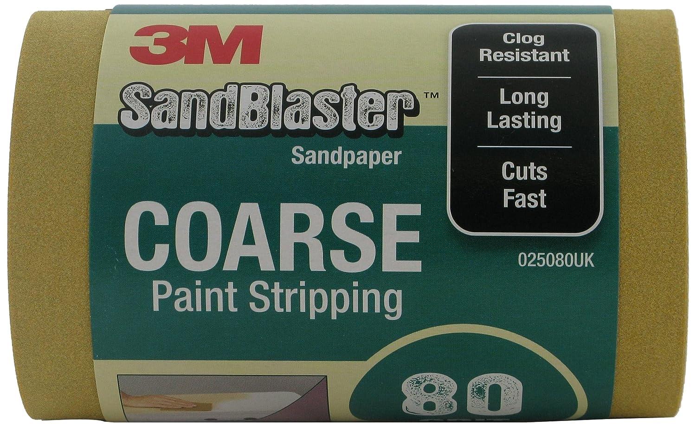 3M 025080UK SandBlaster Sandpaper Roll with Paint Stripping, 115 mm x 2.5 m