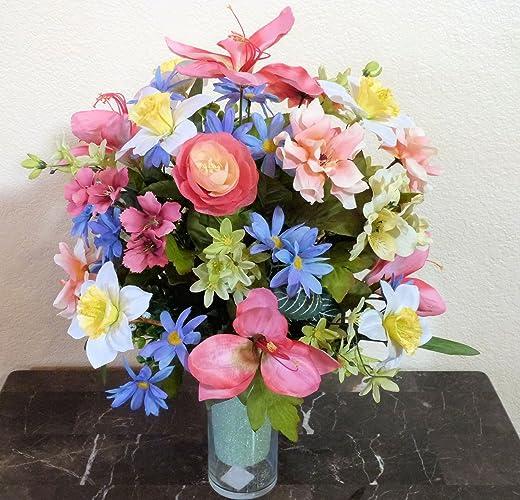 Amazon Spring Cemetery Vase Insert Cemetery Arrangement With
