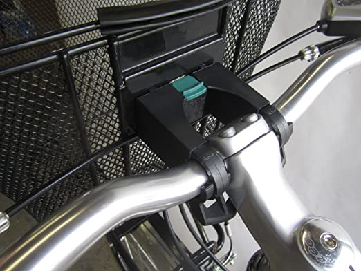Bicycle Basket Black Aluminum and Textile with Quick Release Bracket - Dual Front Quick Release Basket, Removable, Padded Handle, Collapsible for Storage, biria