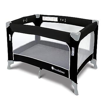Amazon Com Foundations Worldwide Sleepfresh Celebrity Portable Crib With Sleepfresh Cover Gift Graphite Baby