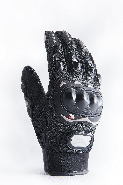 Motorradhandschuhe mit Protektoren in schwarz und mit Touchscreen fü r Herren und Damen, Motocross Handschuhe auch fü r Fahrrad, MTB, Roller, Sport, Mofa, Airsoft, Outdoor & Camping (M) undub UG (haftungsbeschränkt) 3005217