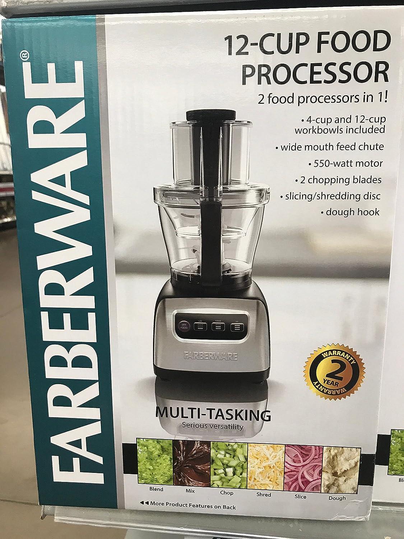 12 cup food processor 550-watt