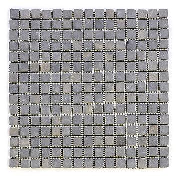 DIVERO Marmor NatursteinMosaik Fliesen Für Wand Boden Quadratisch - Fliesen grau quadratisch