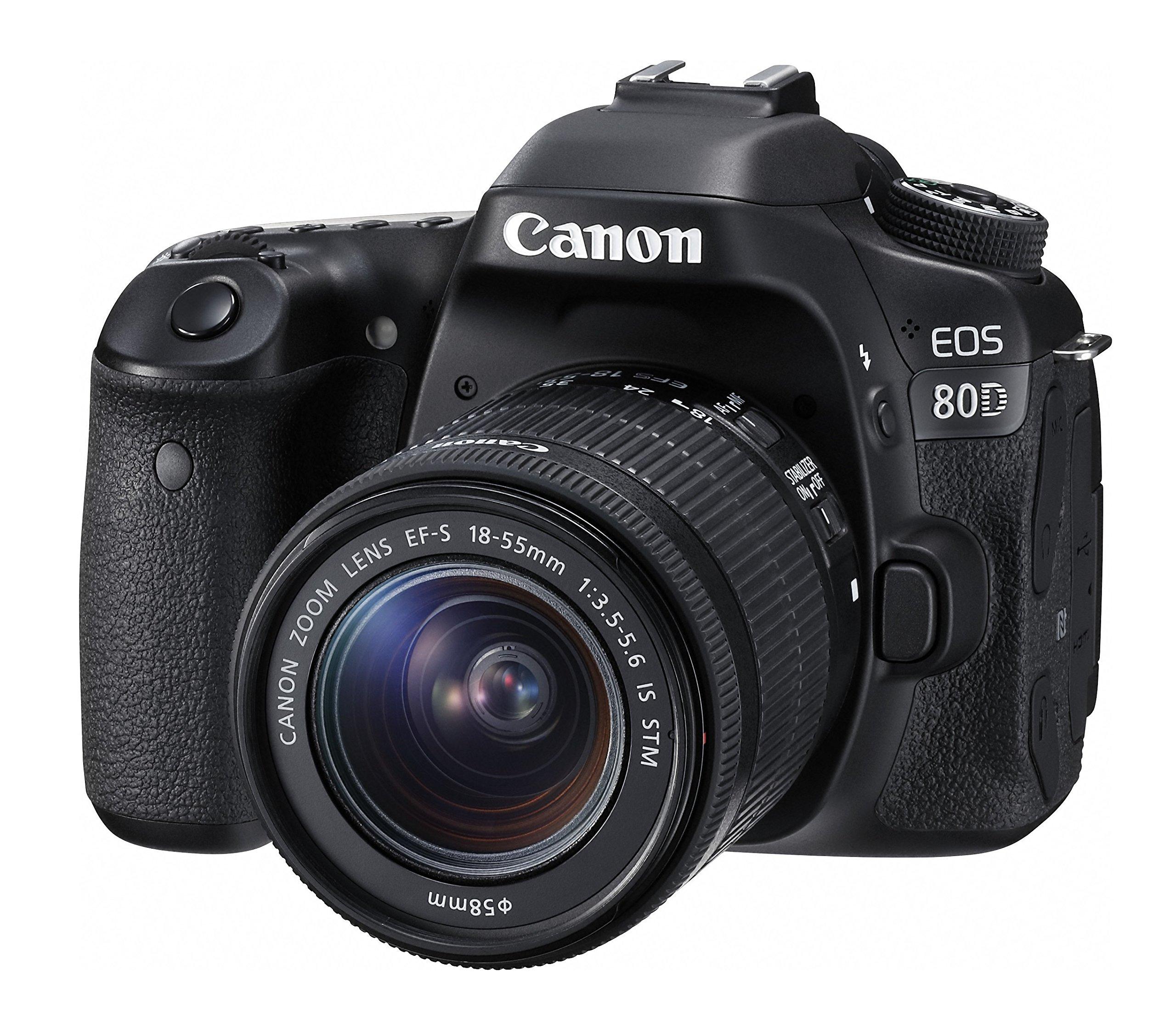 Canon デジタル一眼レフカメラ EOS 80D レンズキット EF-S18-55mm F3.5-5.6 IS STM 付属 EOS80D1855ISSTMLK product image