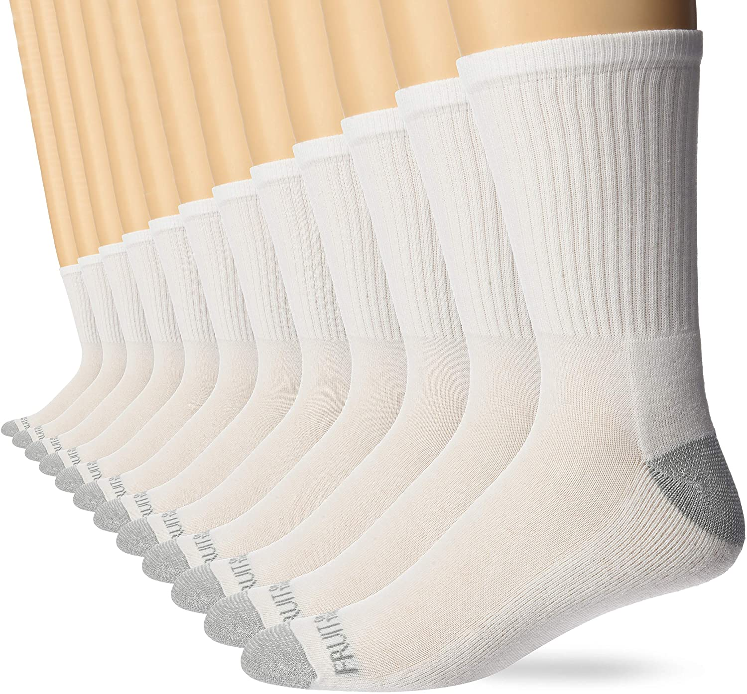 Fruit of the Loom Men's Dual Defense Crew Socks (12 Pack)