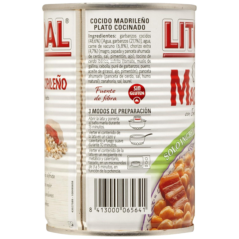 Tomates Al Baño Maria | Cocido Madrileno Litoral Chickpeas With Chorizo 440 Grs Amazon