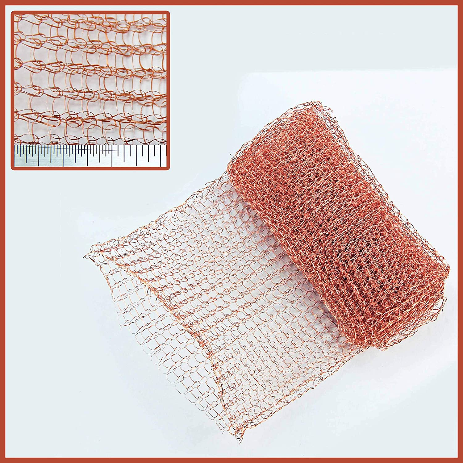 Slug & Snail Copper Mesh - 125mm Pure Copper Knitted Wire Mesh - 1 Metre Unit The Mesh Company