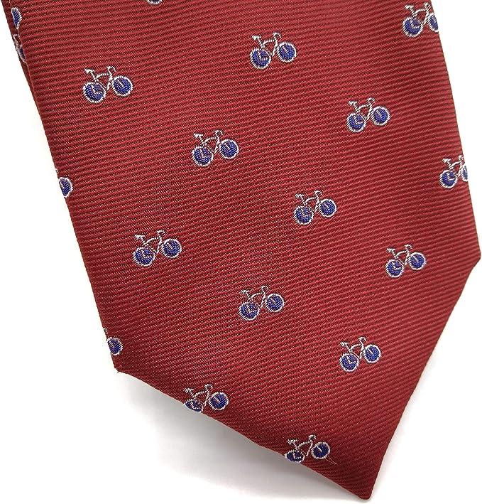 MR.PAJARITA Corbata roja con bicicletas hombre- niño: Amazon.es ...