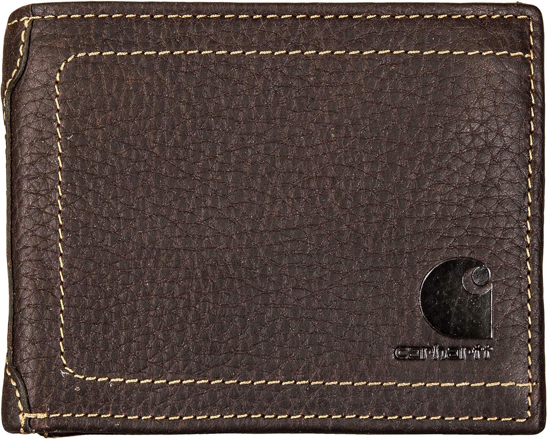 Carhartt Men/'s Passcase Wallet Brown One Size