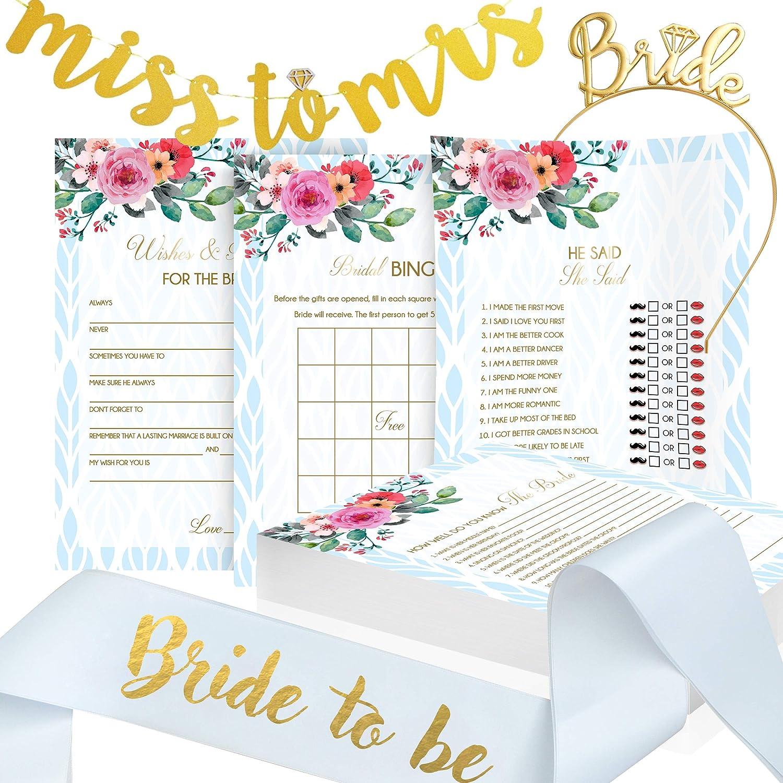 a66d567bf652 Bridal Shower Games Bundle I 4 Games x 50 Each I Bonus Banner