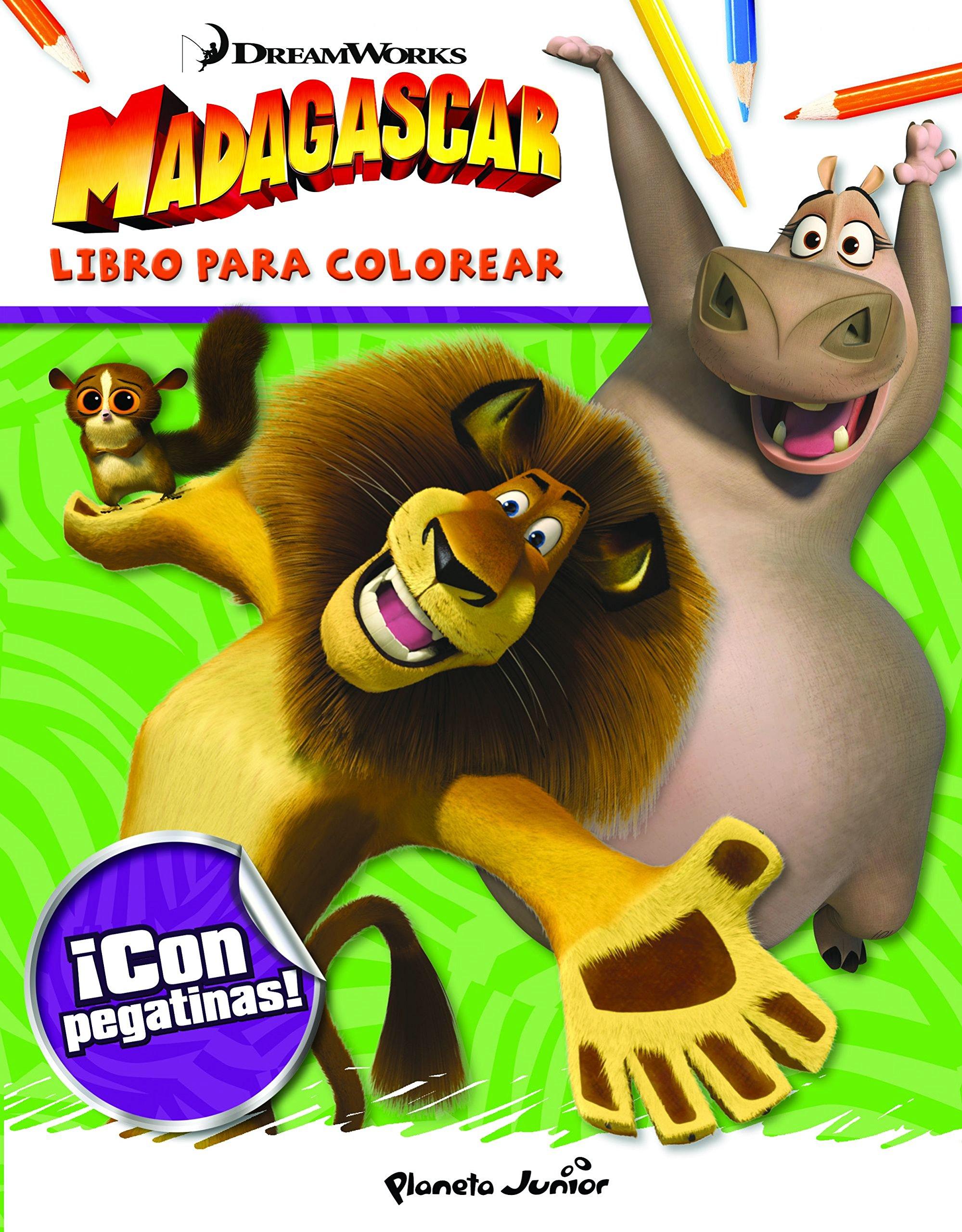Madagascar Libro Para Colorear Vv Aa 9788408141679 Amazon Com