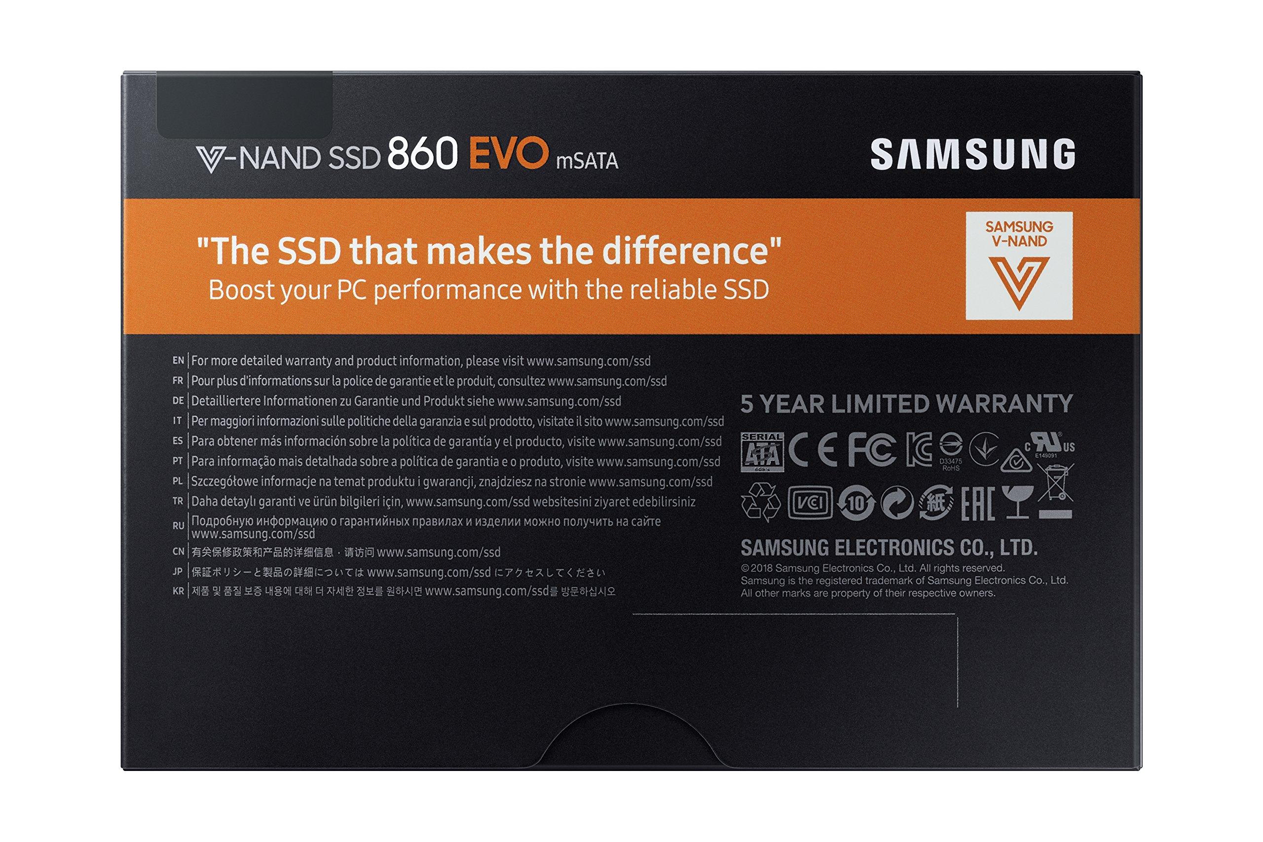 Samsung 860 EVO 250GB mSATA Internal SSD (MZ-M6E250BW) by Samsung