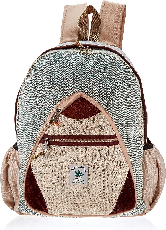 Hemp Handmade Himlayan Backpack ( THC FREE) with Laptop Sleeve - Fashion Cute Travel School College Shoulder Bag / Bookbags / Daypack