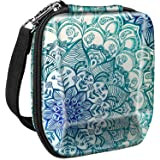 Fintie Carrying Case for Fujifilm Instax SP-3 Mobile Printer - Hard EVA Shockproof Storage Portable Travel Bag with Inner Pocket/Removable Strap - Emerald Illusions
