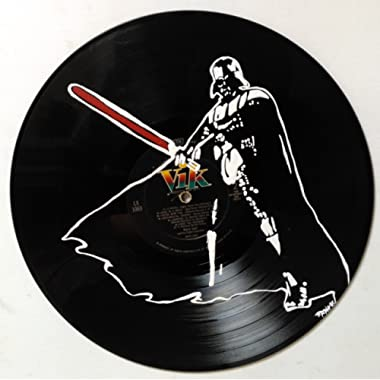 Hand painted Star Wars Darth Vader vinyl record wall art