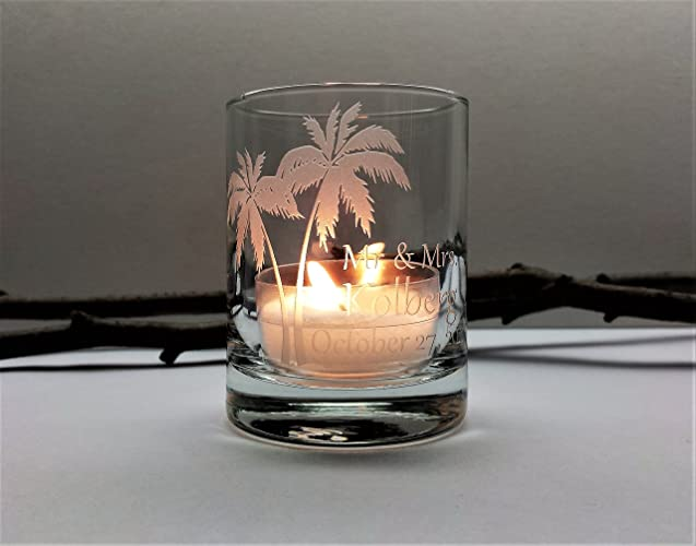 Amazon Palm Tree Personalized Wedding Favors Beach Reception