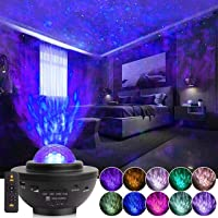 Galaxy Projector with Remote Control, 3 in 1 Night Light Projector and LED Nebula/Mobile Wave Projector, Suitable for…
