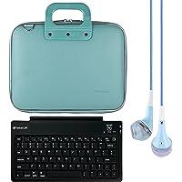 SumacLife Cady 12-Inch Tablet Bolsa para Microsoft Surface Pro 4& 3con teclado Bluetooth & Azul Auriculares de diadema (Azul)
