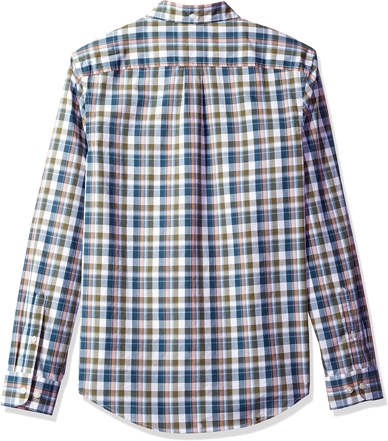 Original Penguin Mens Long Sleeve Plaid Button Down Shirt