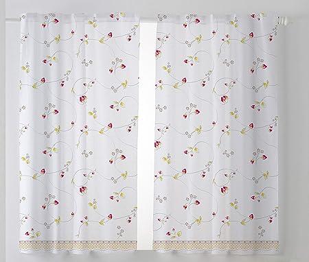 Cardenal Textil Fresón Cortina Cocina Visillo, Tela, Beige, Pack 2 100 x 140 cm: Amazon.es: Hogar