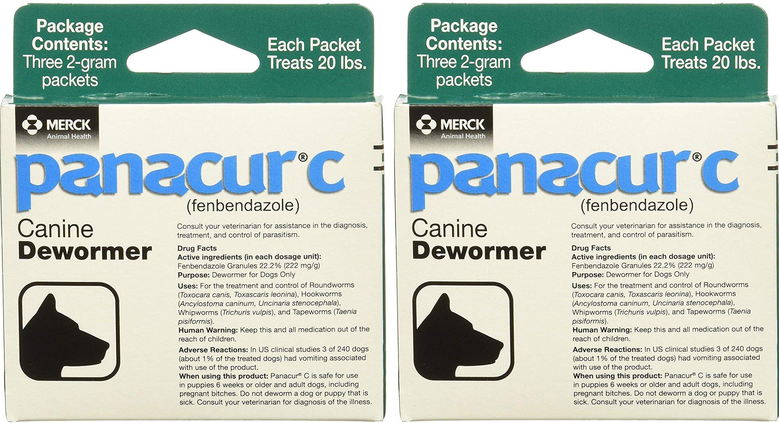 Panacur Canine Dewormer 2 gram (2-Pack)