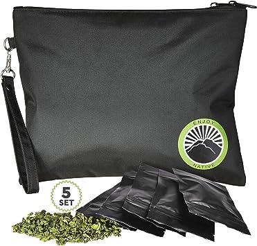 Amazon.com: Bolsa grande a prueba de olores de 11 x 9 – la ...