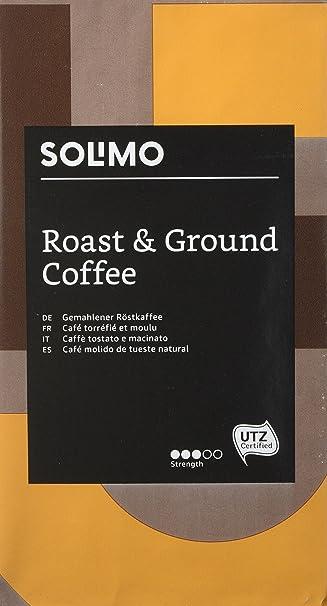 Marca Amazon - Solimo Café molido compatible con todos los usos - certificado UTZ, 2