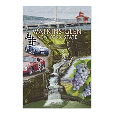 Watkins Glen, New York - Montage (Premium 1000 Piece Jigsaw Puzzle for Adults, 20x30, Made in USA!): Toys & Games