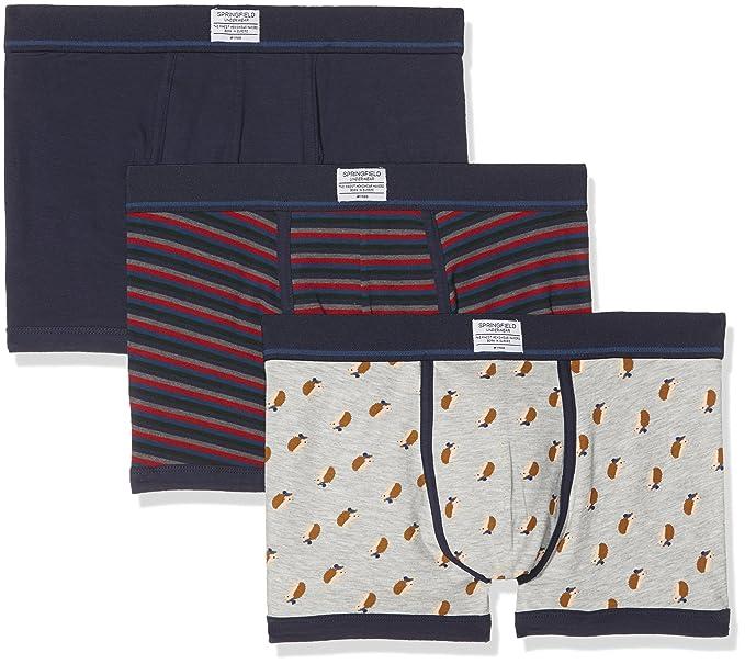 d1bb27041721 Springfield Pack 3 Azules Bóxer