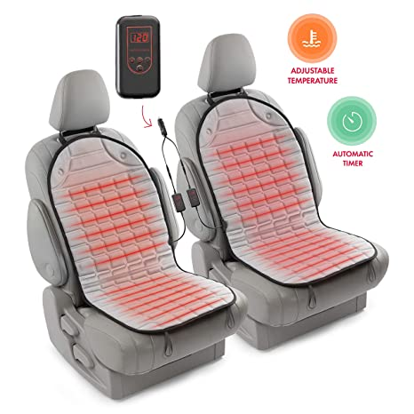 Zento Deals Car Heated Seat Cover Cushion Hot Warmer