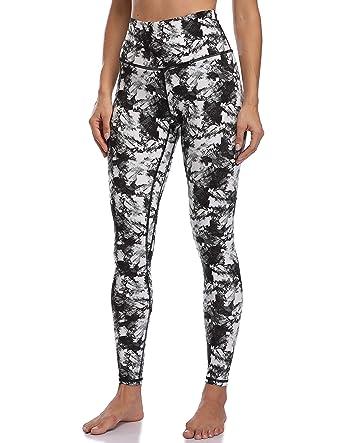 6a1d2292c1221 Colorfulkoala Women's High Waisted Pattern Leggings Full-Length Yoga Pants  (XS, Black &