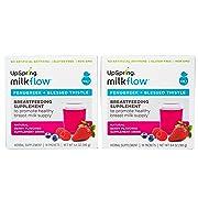 UpSpring Milkflow Fenugreek - Blessed Thistle Drinkable Supplement 2 Pack Berry