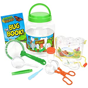 Nature Bound NB535 Bug Catcher with Habitat Bucket and 10 Piece Nature Exploration Set, Green